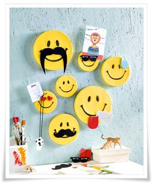 Bastelidee Smiley Memoboards
