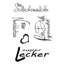 Stempel Clear, super lecker, A7, 5 - teilig, transparent