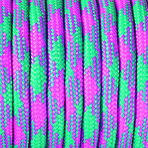 Paracord, Farbmix, 4 mm x 50 m, pink