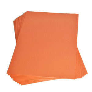 Moosgummiplatte, 200 x 300 x 2 mm, orange, 3 Platten im SET