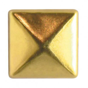 Fashion Nieten, Quadrat, 6 x 6 mm, 60 Stk., gold