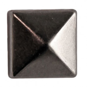 Fashion Nieten, Quadrat, 8 x 8 mm, 40 Stk., schwarz