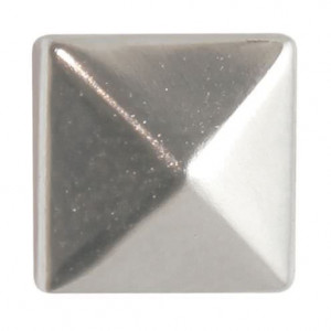 Fashion Nieten, Quadrat, 8 x 8 mm, 40 Stk., silber