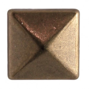 Fashion Nieten, Quadrat, 8 x 8 mm, 40 Stk., antik bronze