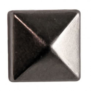 Fashion Nieten, Quadrat, 10 x 10 mm, 30 Stk., schwarz