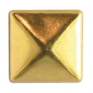 Fashion Nieten, Quadrat, 10 x 10 mm, 30 Stk., gold