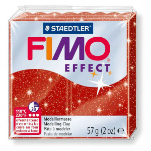 Fimo ® Effect 57 g, rot glimmer