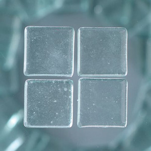 MosaixSoft-Glassteine, 20 x 20 x 4 mm, 200 g ca. 41 Stück transparent