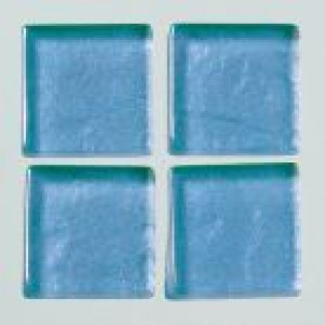 MosaixSoft-Glassteine Metallic, 15 x 15 x 4 mm, 200 g ca. 95 Stk., blau