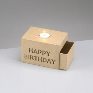 Schiebebox, Happy Birthday, 15 x 10.5 x 10 cm