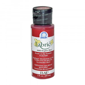 FolkArt Fabric Paint opaque 59 ml, engine red