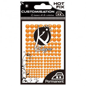 Metall Formen, Hot Fix NEON COLOR, 3 / 4 / 5 / 6 mm, 176 Stk., neonorange