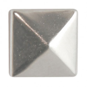 Fashion Nieten, Quadrat, 6 x 6 mm, 60 Stk., silber