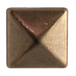 Fashion Nieten, Quadrat, 6 x 6 mm, 60 Stk., antik bronze