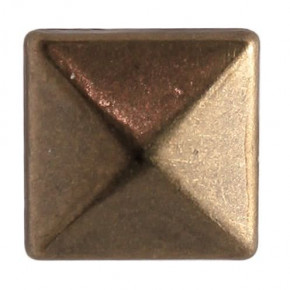 Fashion Nieten, Quadrat, 10 x 10 mm, 30 Stk., antik bronze