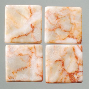 MosaixPur-Echtstein, 10 x 10 x 4 mm, 200 g ~ 205 Stck rot / weiss Marmor
