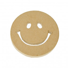 PappArt, Smiley, ø 14 x 1,5 cm,