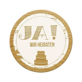Woodies Stempel, Ja! Wir heiraten, ø 30 mm,
