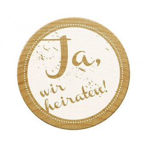 Woodies Stempel, Ja, wir heiraten!, ø 30 mm,