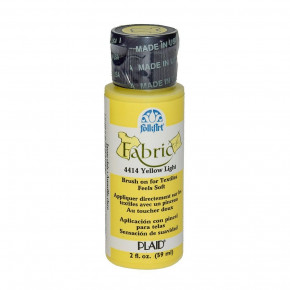FolkArt Fabric Paint opaque 59 ml, yellow light
