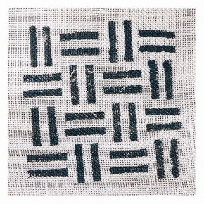 Fabric Creations™ Stempel, Small Basket Weave, ~ 4,2 x 4,2 cm,